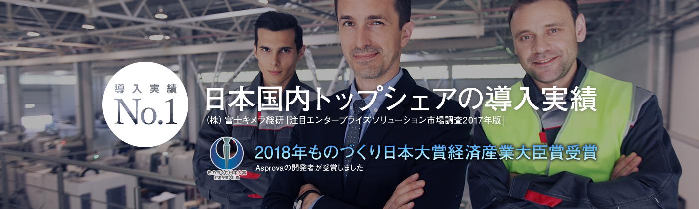 日本国内トップシェアの導入実績を持つ生産スケジューラAsprova